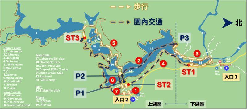 十六湖國家公園園區動線
