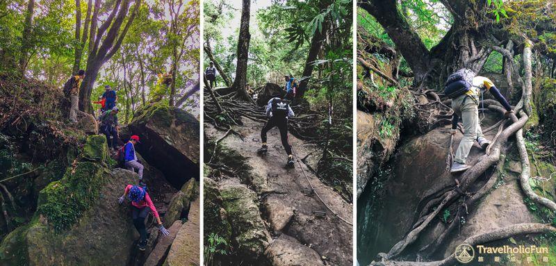 加里山登山步道攀岩