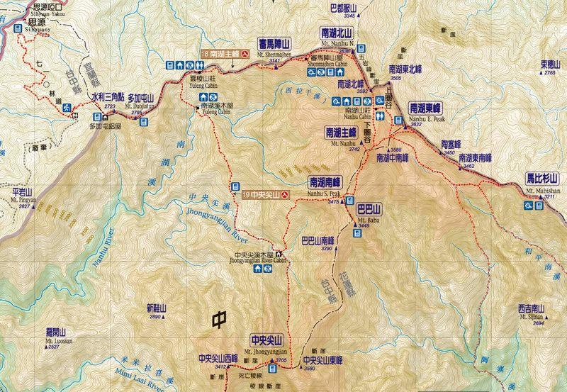 南湖大山群峰路線圖