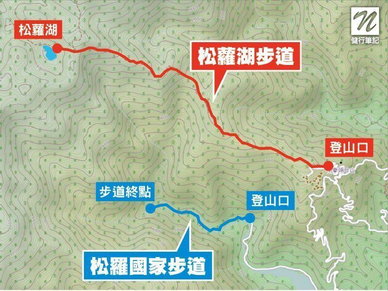 松蘿湖步道與松羅國家步道